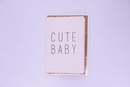 Cute Baby Girl Greeting Card - Blank Inside
