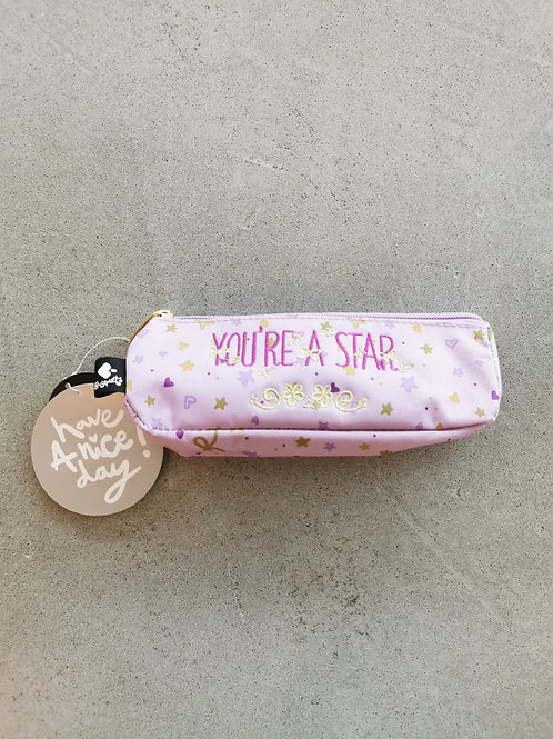 You're A Star Small Pencil  Case - Size: 21x6x5cm