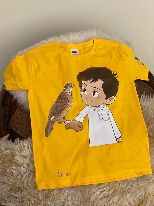 Yellow Falcon T-Shirt- Ages 5-6