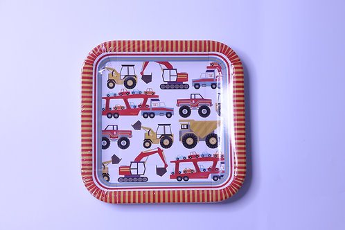 Big Rig Large Party Plates - 12 Plates