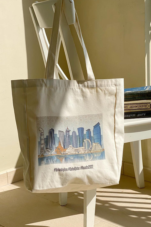 Doha Skyline Tote Bag