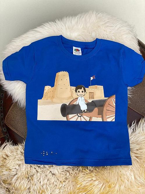 Royal Blue Al Zubarah T-Shirt- Ages 3-4