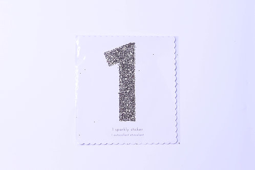 Number 1 Chunky Gold Sticker