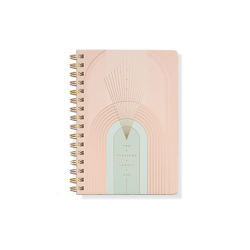 Art Deco Soft Cover 17 Months Planner With Stickers- Aug 2020-Dec 2021