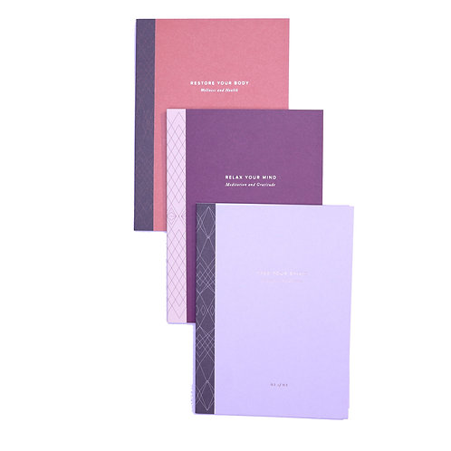 Body Mind Spirit Prompted Journal Set Of 3 - A5