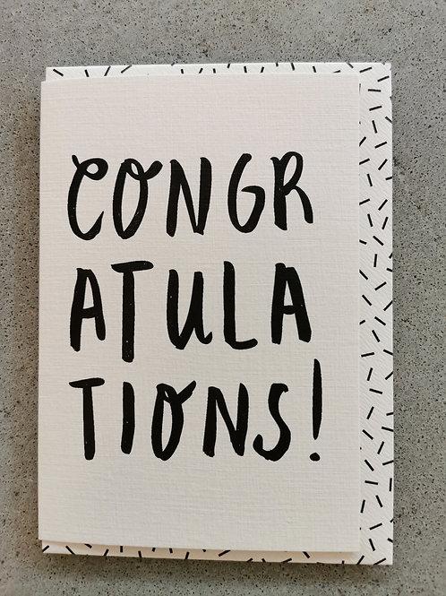 Congratulations Bold