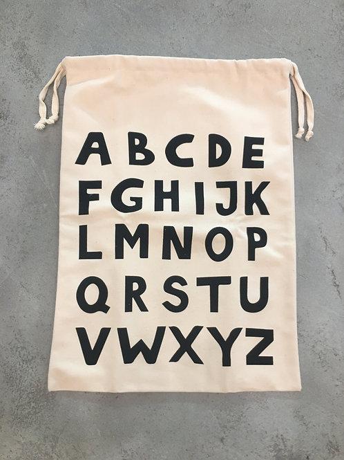 Alphabet Fabric Bag - Large - 48x64cm