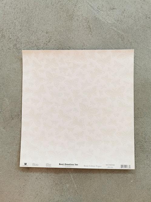 Simply Scallops Basic Glitter Paper
