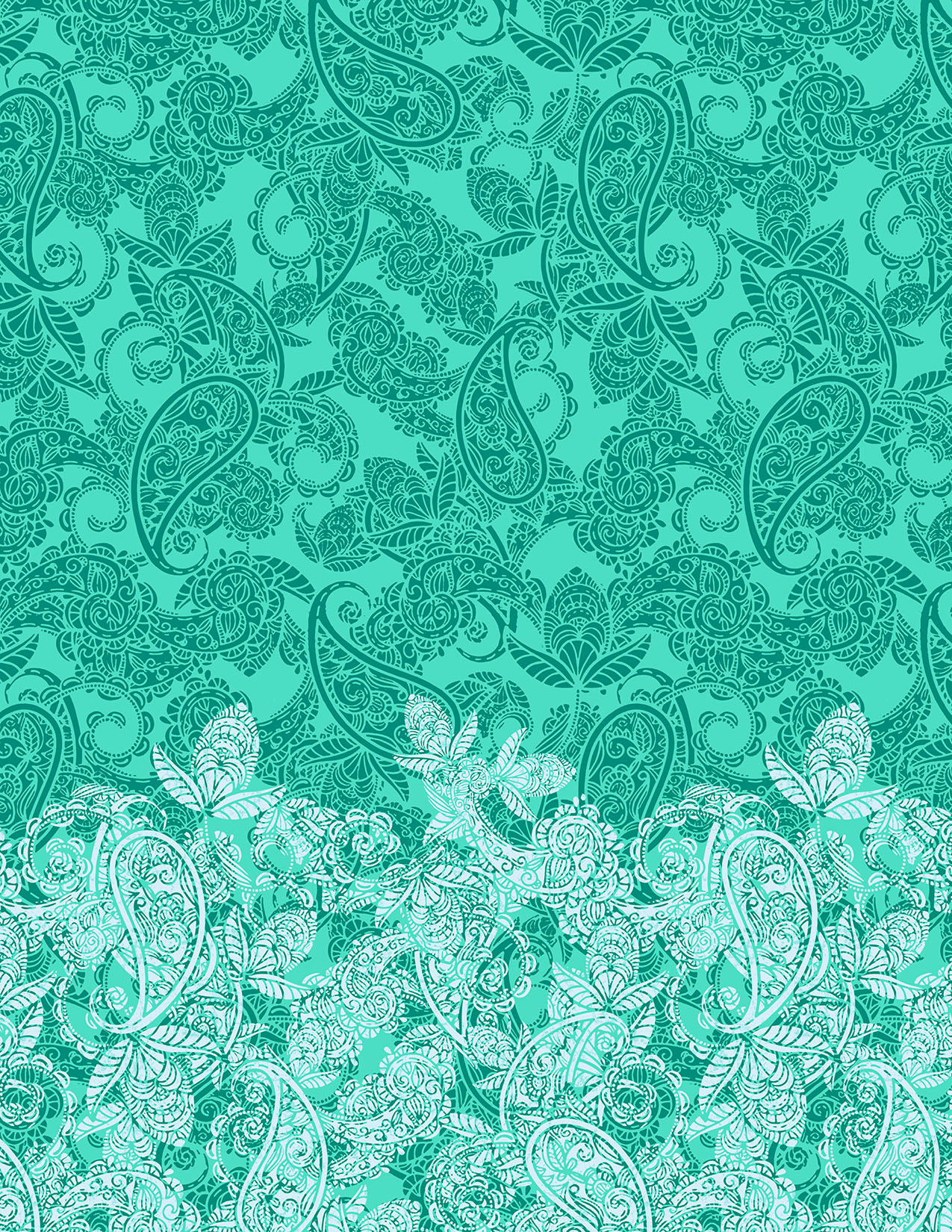 FADED PAISLEY COOL