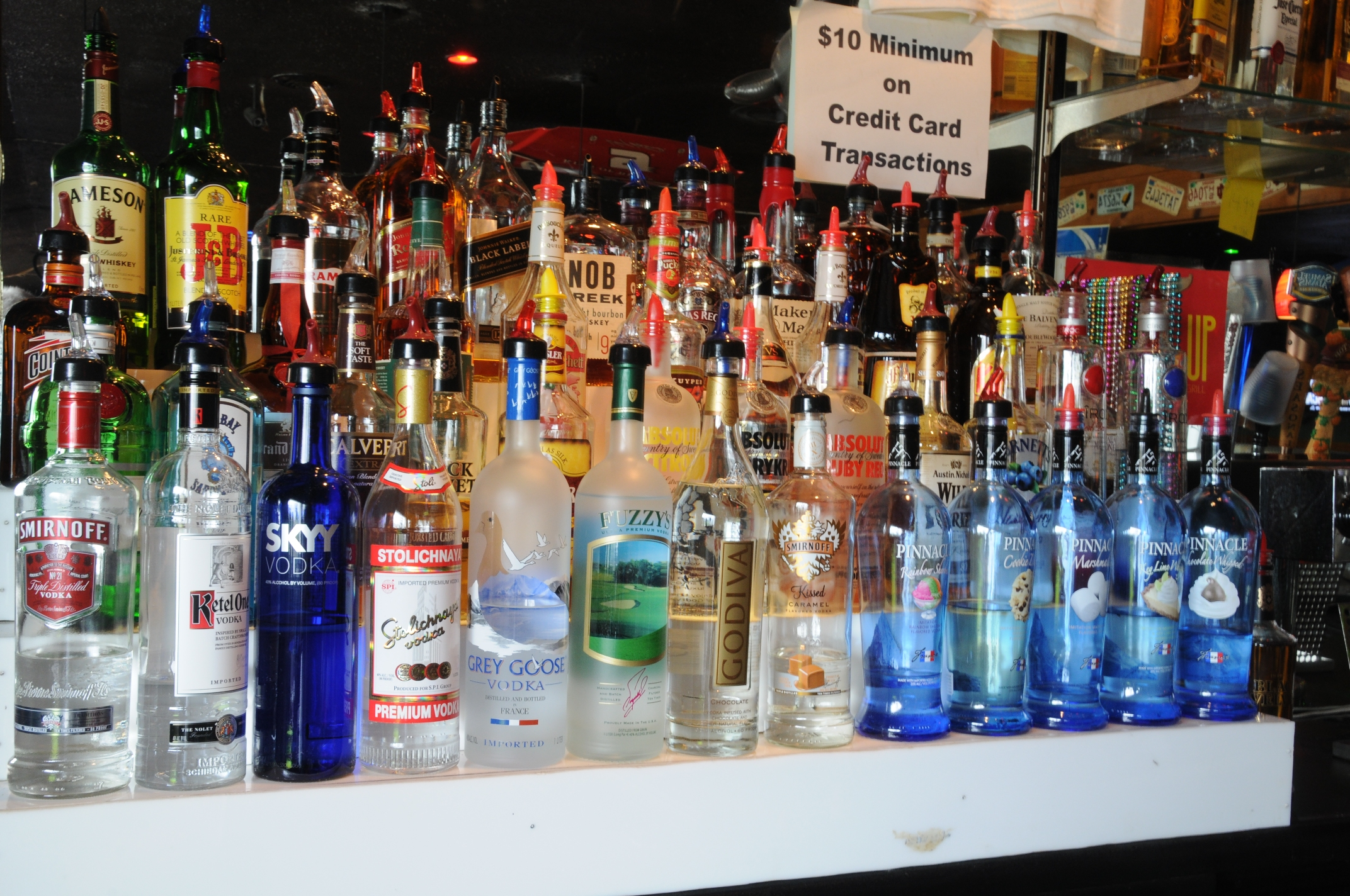 Liquor Selection Back Bar