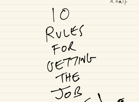 Ten Rules for getting the job done.  By Richard Chance aged 40 and-a-half.