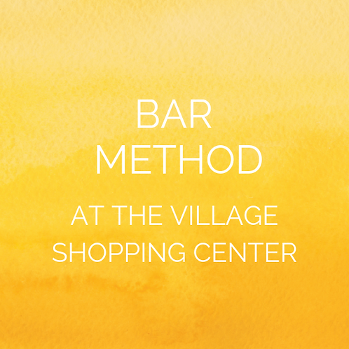 Open to the community! Winter 2020 at Bar Method