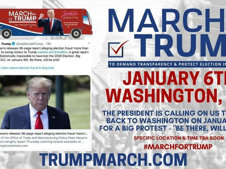 The President is calling on us to come back to Washington on January 6th for a Big Protest.