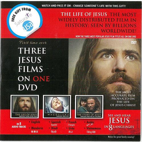 Three Jesus Films on One DVD