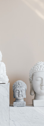 composition-of-buddha-statues-on-marble-