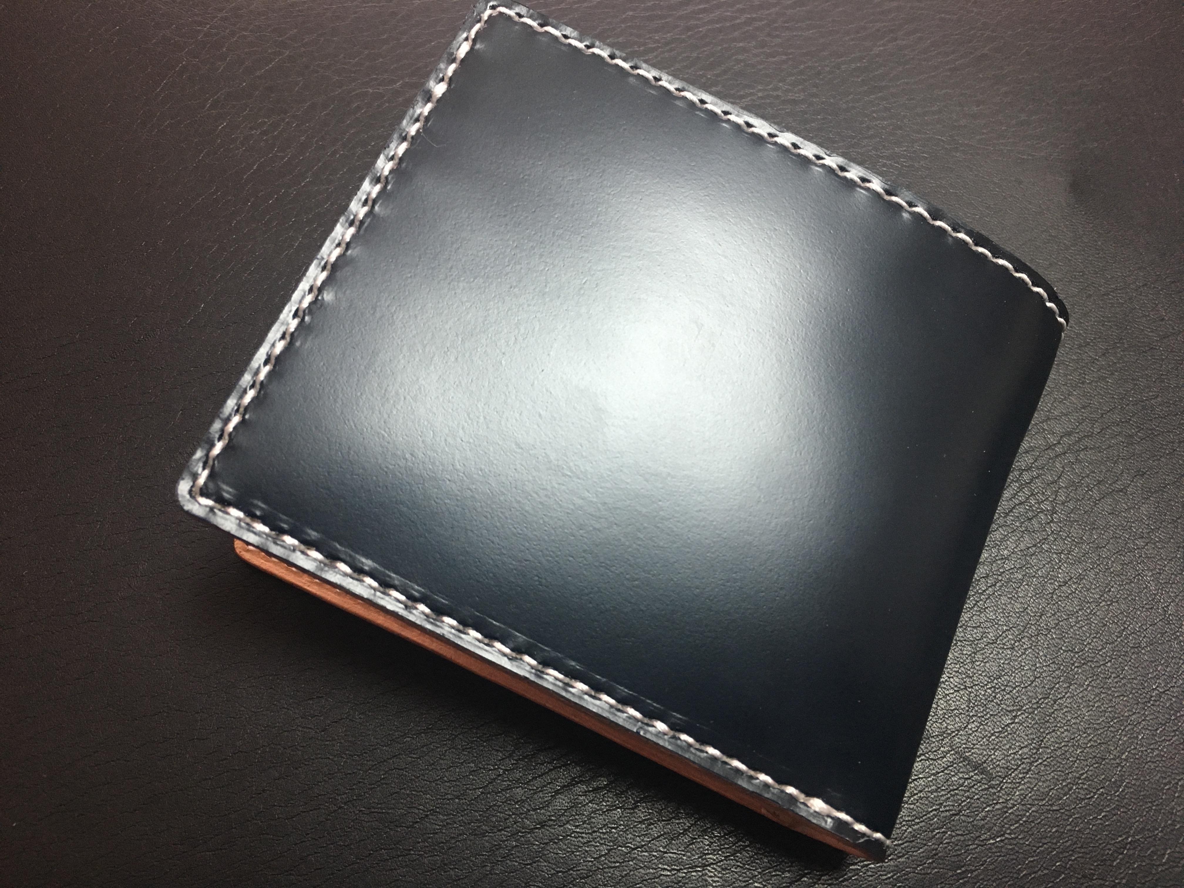 2つ折り財布(コードバン)