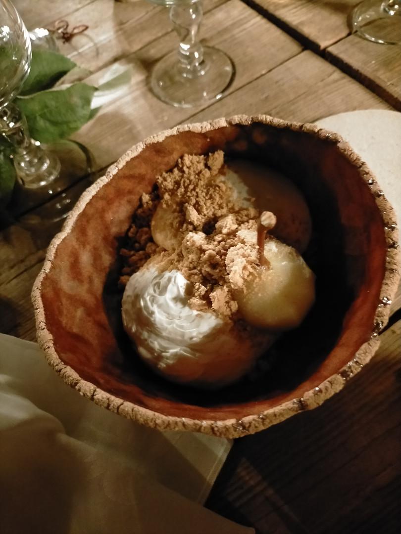 dessert par le Chef Guillaume Foucault, Le Pertica à Vendôme.