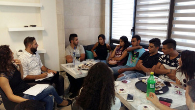 Youth meeting   at our Bethlehem Communi
