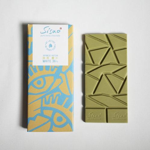 Chocolat blanc 36% au matcha SISAO