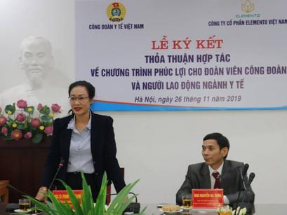 Elemento Việt Nam ký thỏa thuận hợp tác vì phúc lợi cho đoàn viên công đoàn