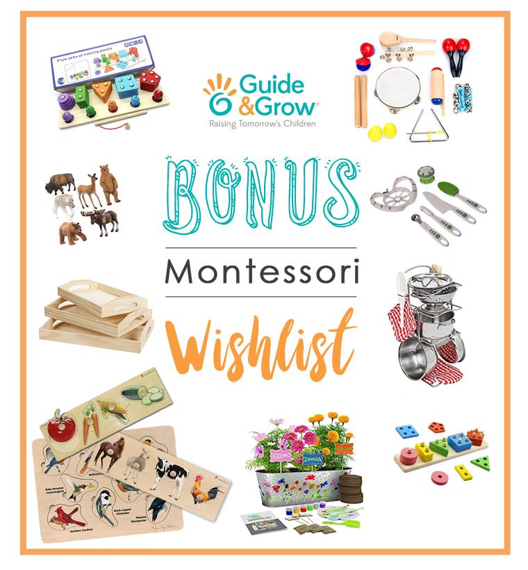 Bonus Montessori Wishlist