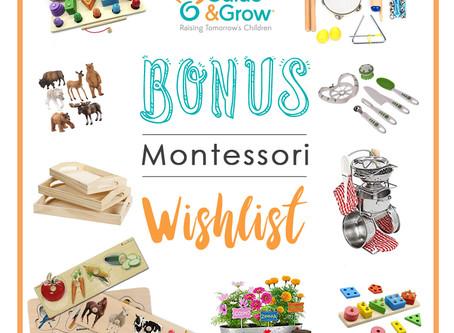 BONUS MONTESSORI WISHLIST!