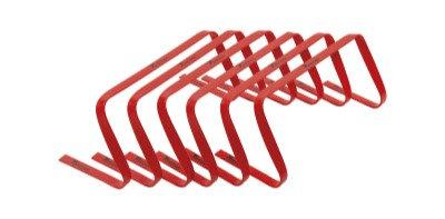 "Precision 9"" High Flat Hurdles Set - Red ( Set of 6 )"