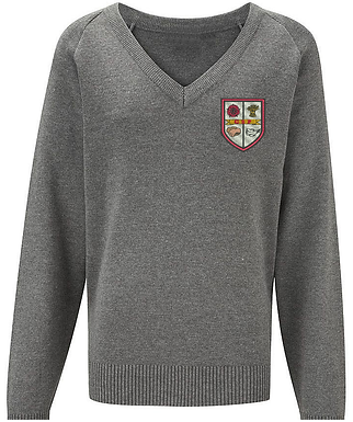 Great Sankey Primary - Knitted V Neck Jumper