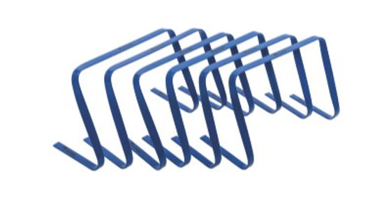 "Precision 12"" High Flat Hurdles Set - Blue ( Set of 6 )"