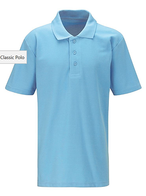 Classic School Polo Shirt - 10 Colours Available (Blue Max Banner)
