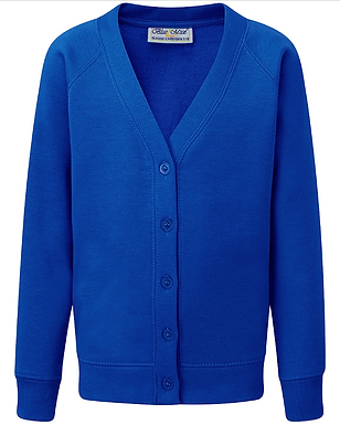 Classic School Cardigan - 10 Colours Available (Blue Max Banner)