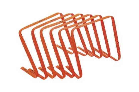 "Precision 15"" High Flat Hurdles Set - Orange ( Set of 6 )"