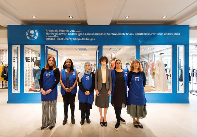 THE LONDON BUDDHIST CENTRE IS  PART OF INTERFAITH CHARITY SHOP AT SELFRIDGES BY ARTANGEL AND MIRANDA