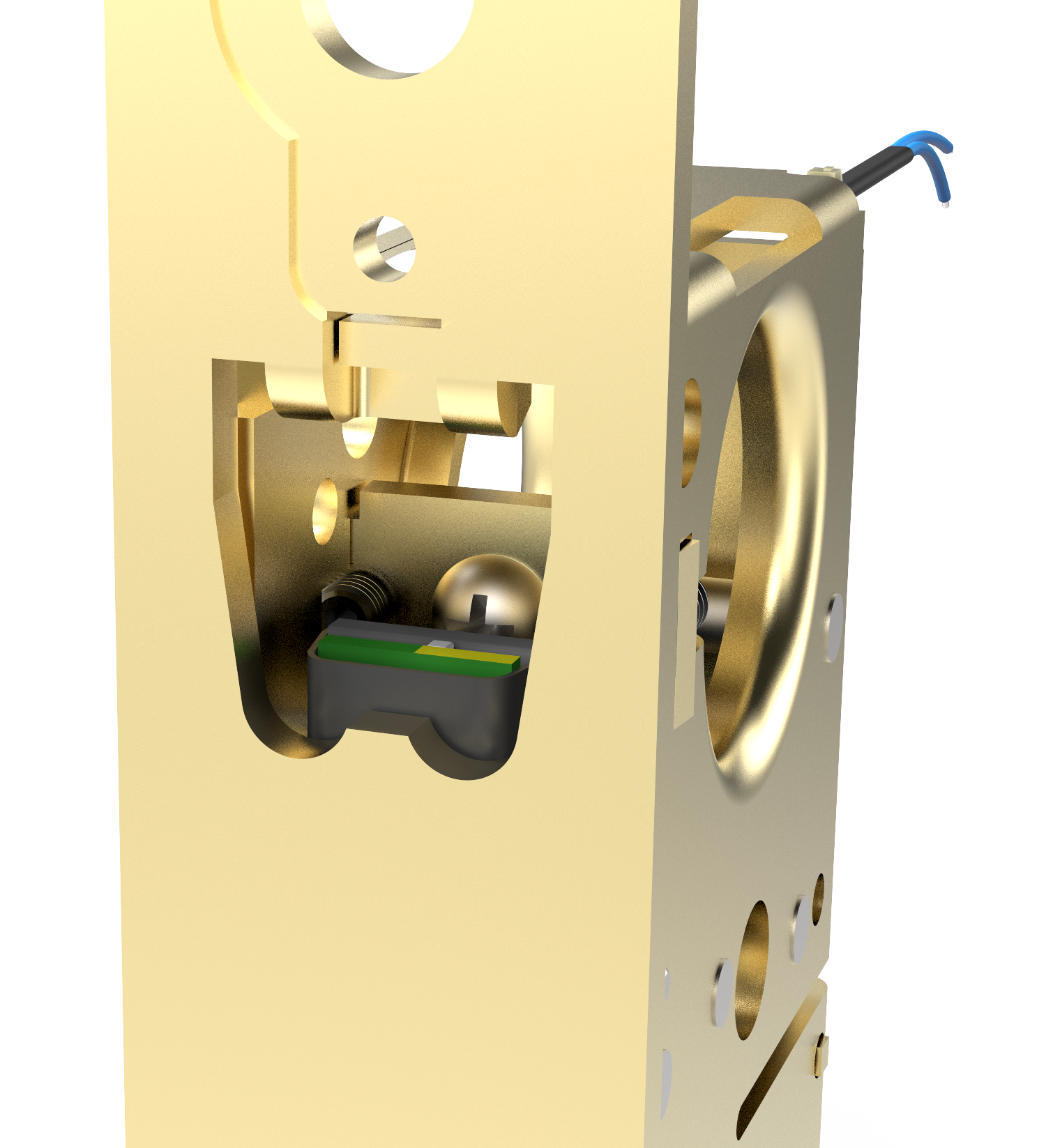 M885XE Motor Drive Electrified Narrow Backset Mortise Lock