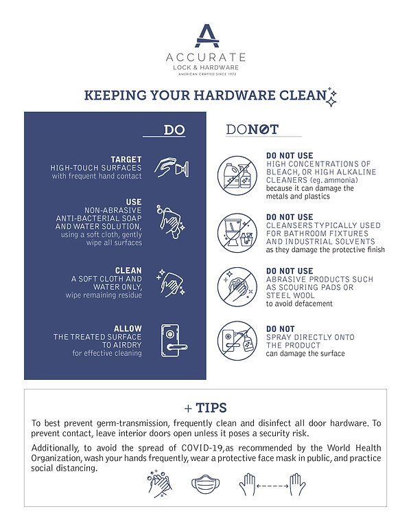 Accurate Lock and Hardware_Cleaning Door