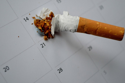 Set a date to stop smoking