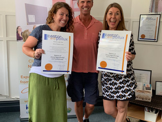 Proud and happy 2 amazing new Clinical Hypnotherapist. Astrid Nader-Louw and Lou Pattchit