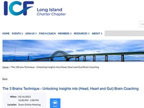 ICF Long Island: Unlocking insights into (Head, Heart and Gut) Brain coaching