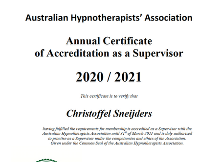 Looking for quality? I am grateful to have my supervisor accreditation again