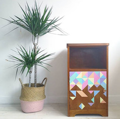 Tetris Anyone 110€ pastel geometric design. 15W X 13.5D X 25.5H inches.