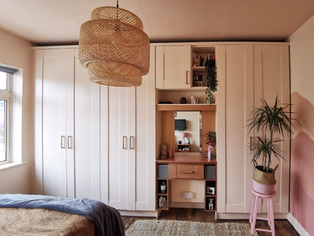 Bedroom Makeover- Painting Laminate Wardrobes