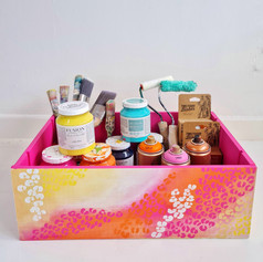 Hand Painted Leopard Print Box