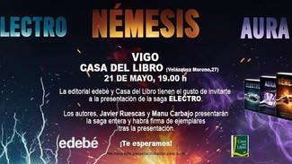 Javier Ruescas y Manu Carbajo. Presentación Saga Electro. Vigo, 21/05/2016