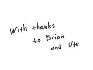 Thank who?