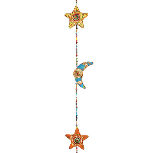 Multi-coloured Moons & Stars with Bell