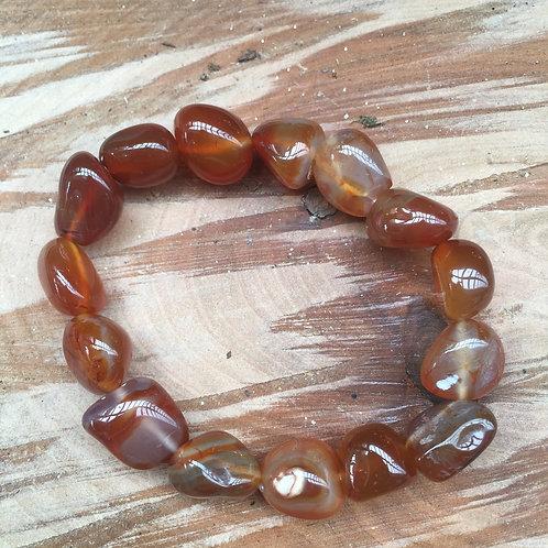 Carnelian Tumblestone Bracelet