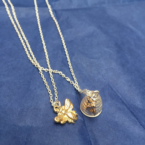 Honey Bee And Beehive Necklace