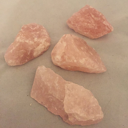 Rose Quartz  pieces (rough)
