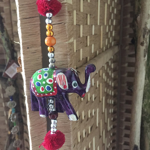 Wooden Hanging Elephants