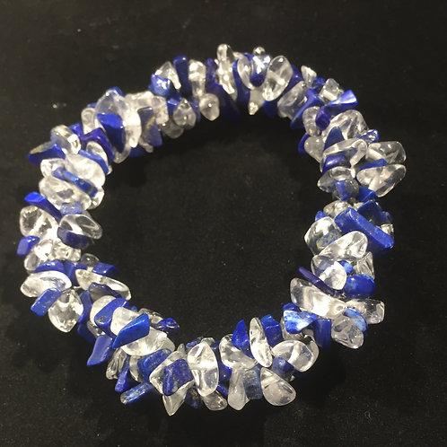Lapis Lazuli & Quartz Bracelet